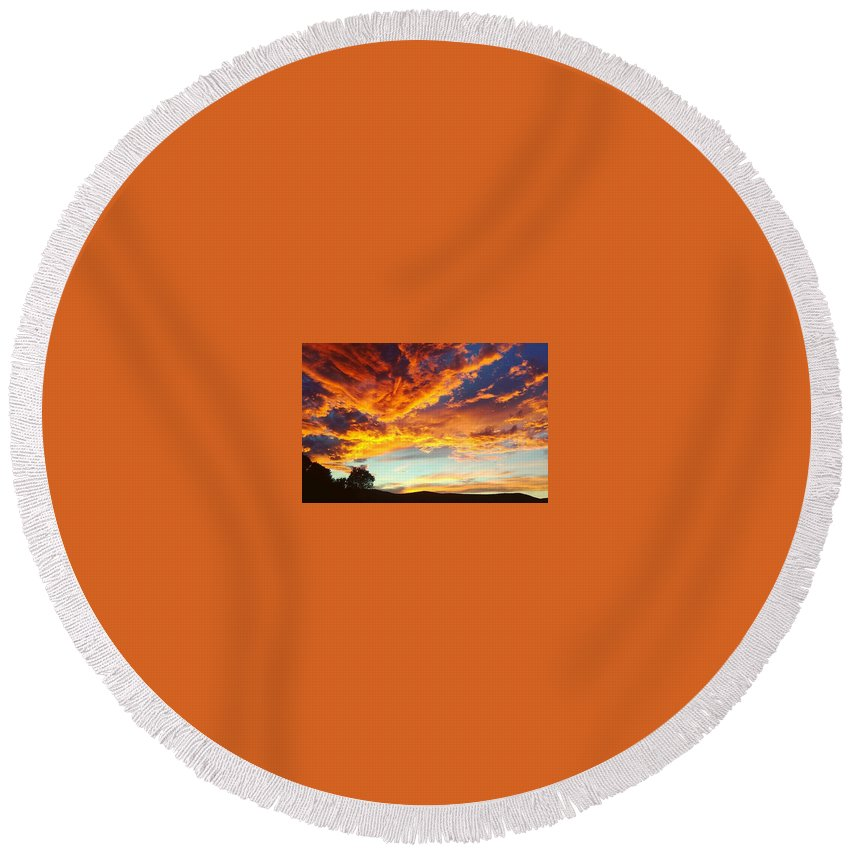Life Round Beach Towel featuring the digital art Sedona by Kristina Gerth