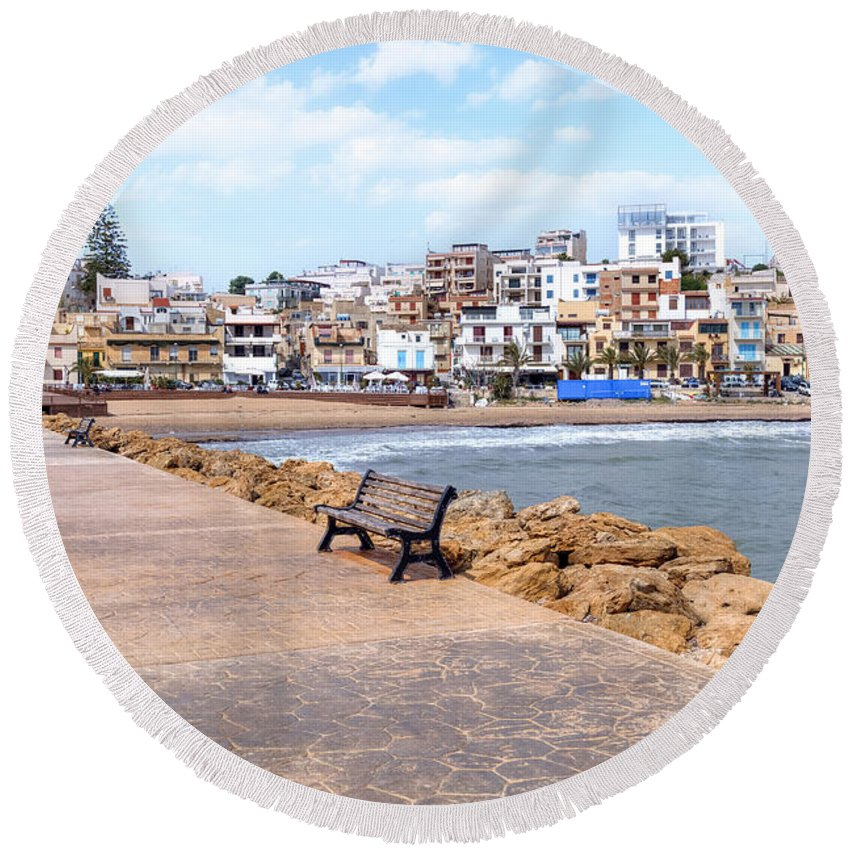 Marinella Di Selinunte Round Beach Towel featuring the photograph Selinunte - Sicily by Joana Kruse