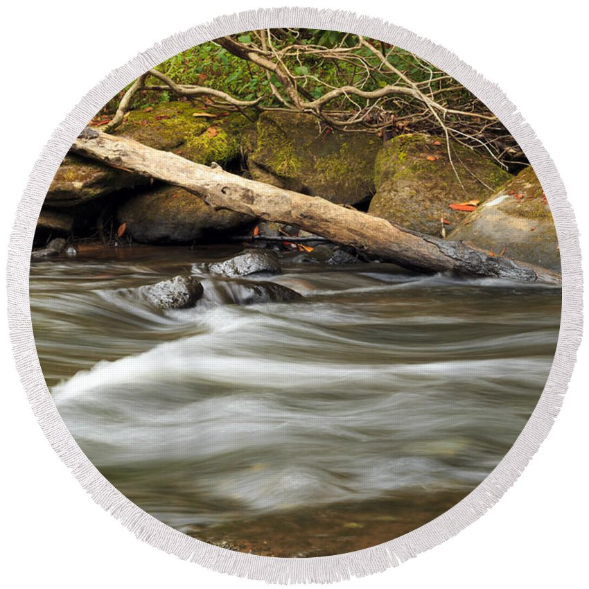 Blur Round Beach Towel featuring the photograph Serenity by Travis Rogers