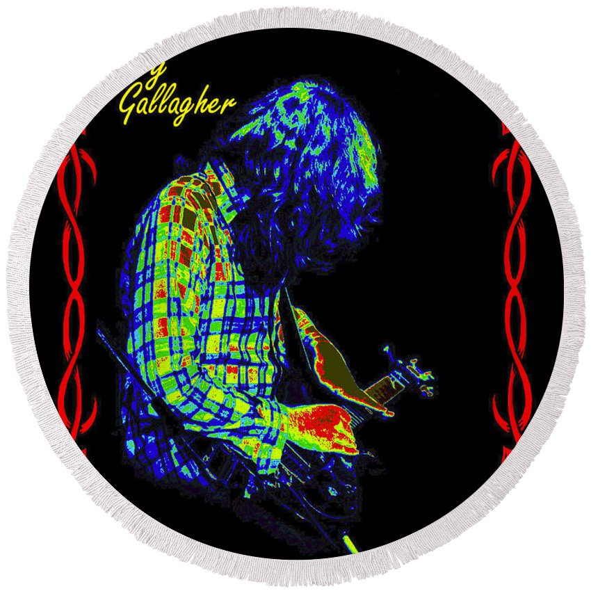 Rory Gallagher Round Beach Towel featuring the photograph Seventh Son Of A Seventh Son by Ben Upham