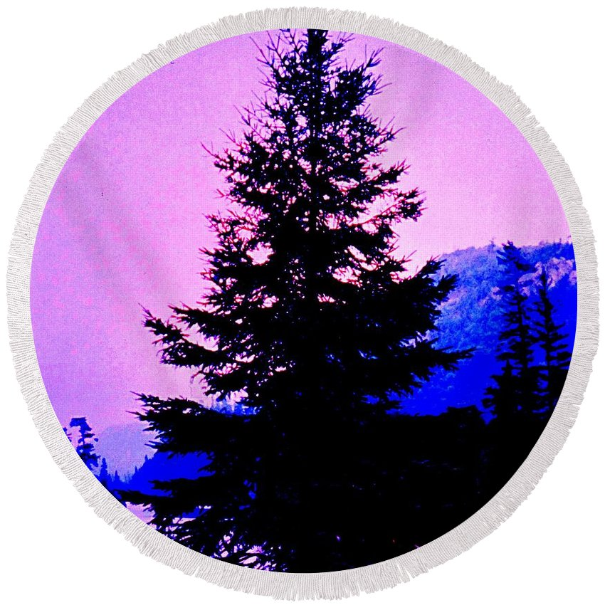 Agawa Round Beach Towel featuring the photograph Shadows In The Canyon by Ian MacDonald