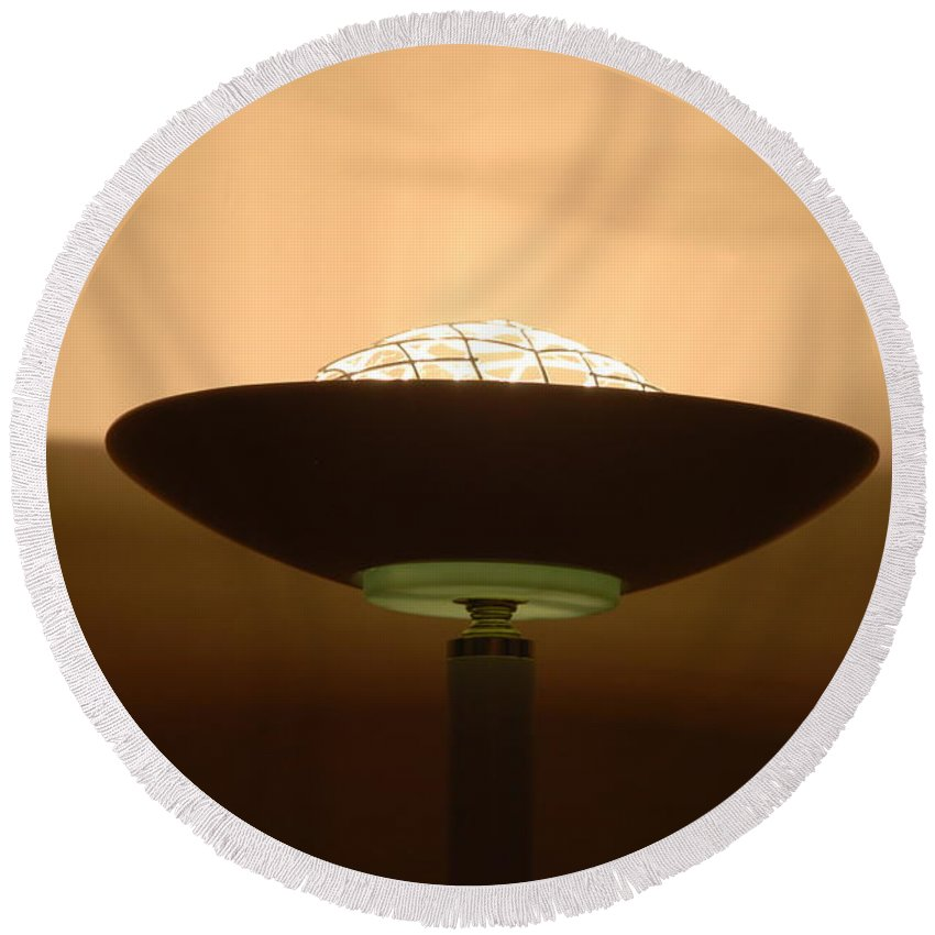 Lamp Round Beach Towel featuring the photograph Shine by Rob Hans