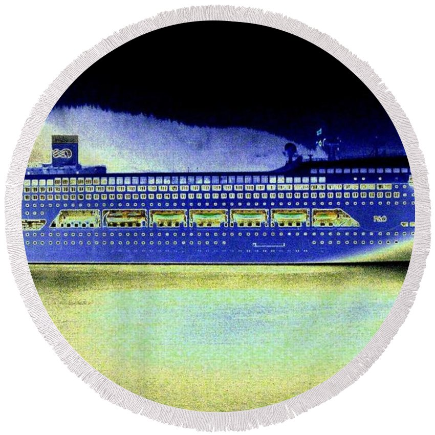 Ketchikan Round Beach Towel featuring the digital art Shipshape 7 by Will Borden