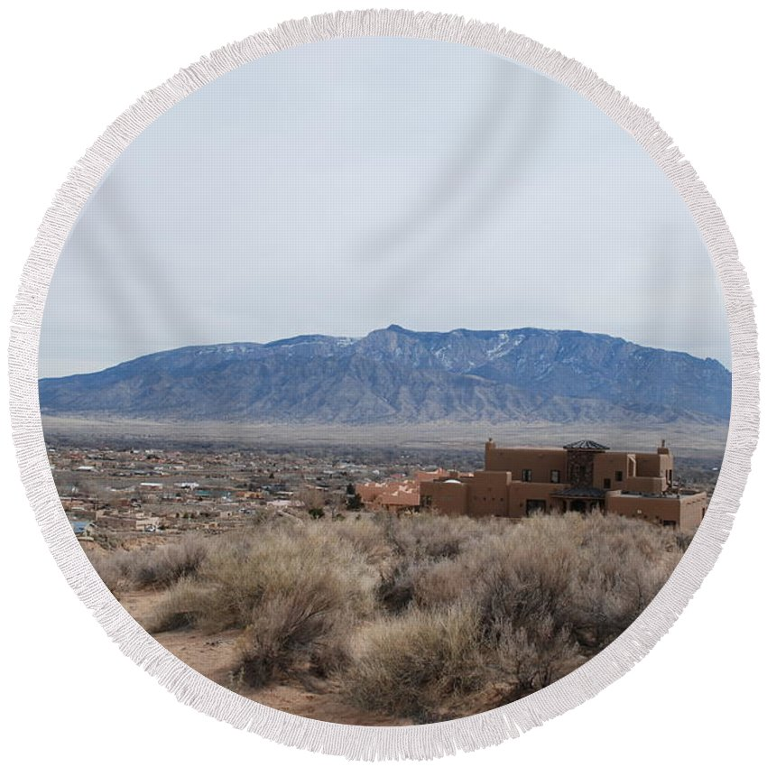 Mountians Round Beach Towel featuring the photograph Shoulda Coulda Woulda by Rob Hans