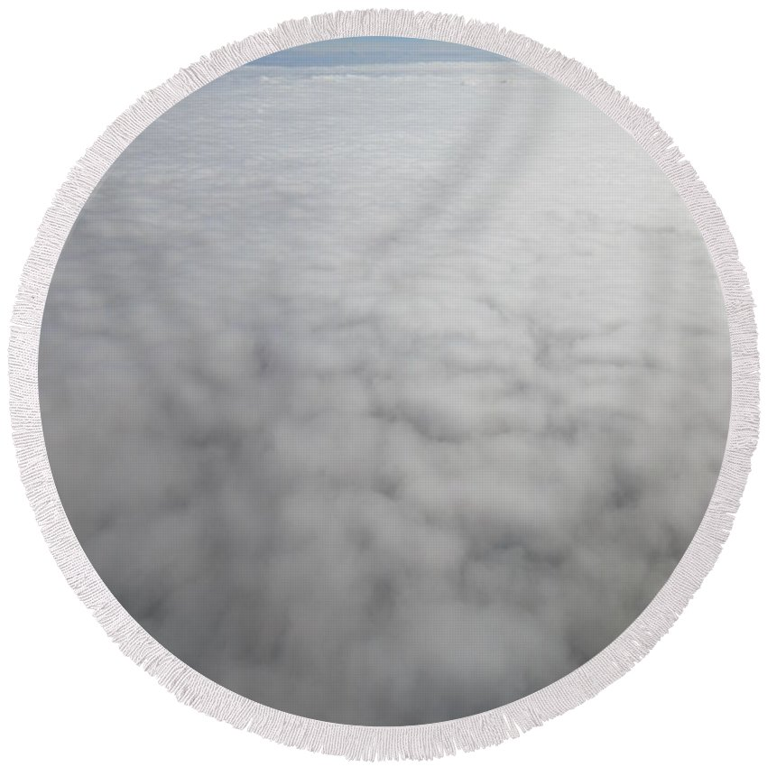 Sitting Round Beach Towel featuring the photograph Sitting On The Clouds by Frederick Holiday