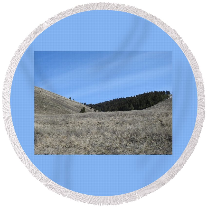 Round Beach Towel featuring the photograph Sky Glory by Dan Hassett
