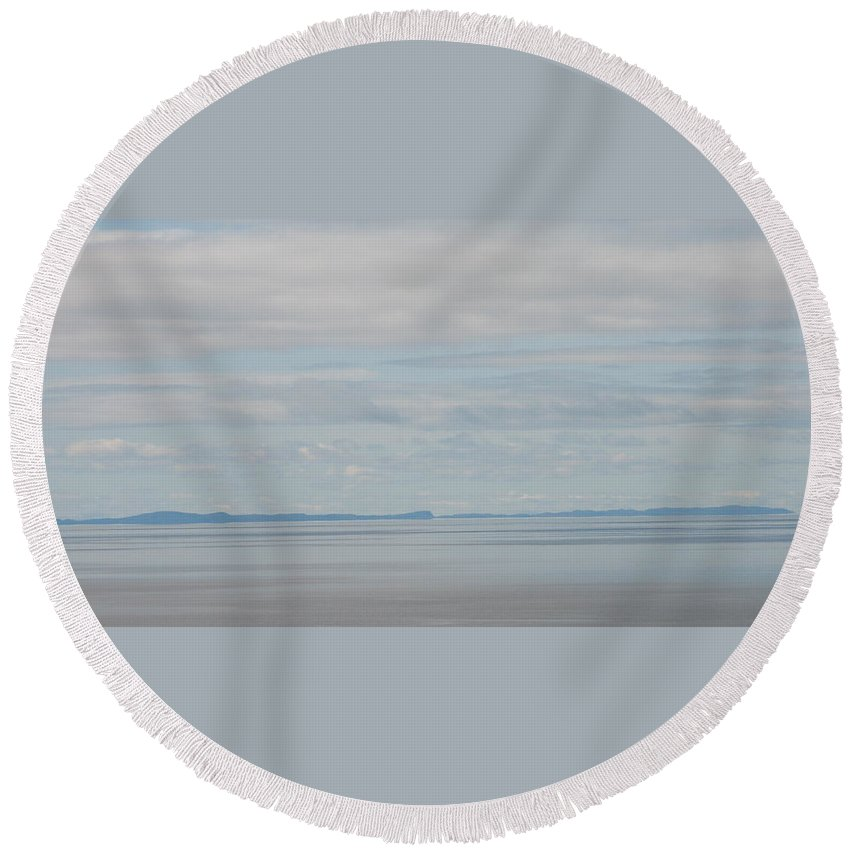 Sky Round Beach Towel featuring the photograph Skyscape by Kelly Mezzapelle