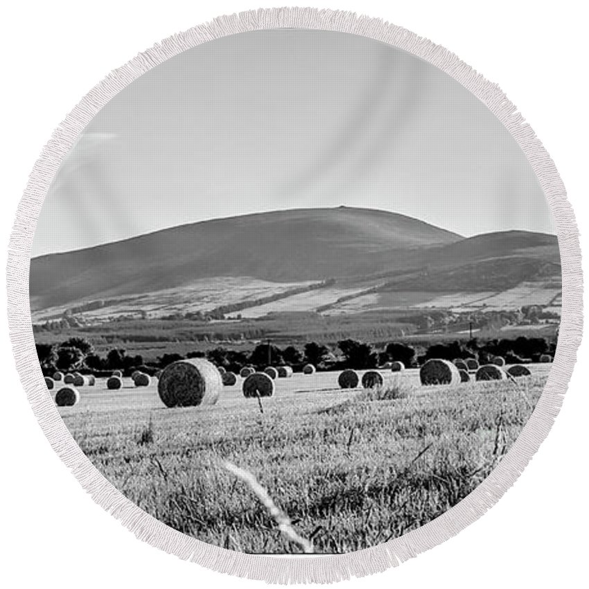 Slievenamon Round Beach Towel featuring the photograph Slievenamon by Robbie Ambrose