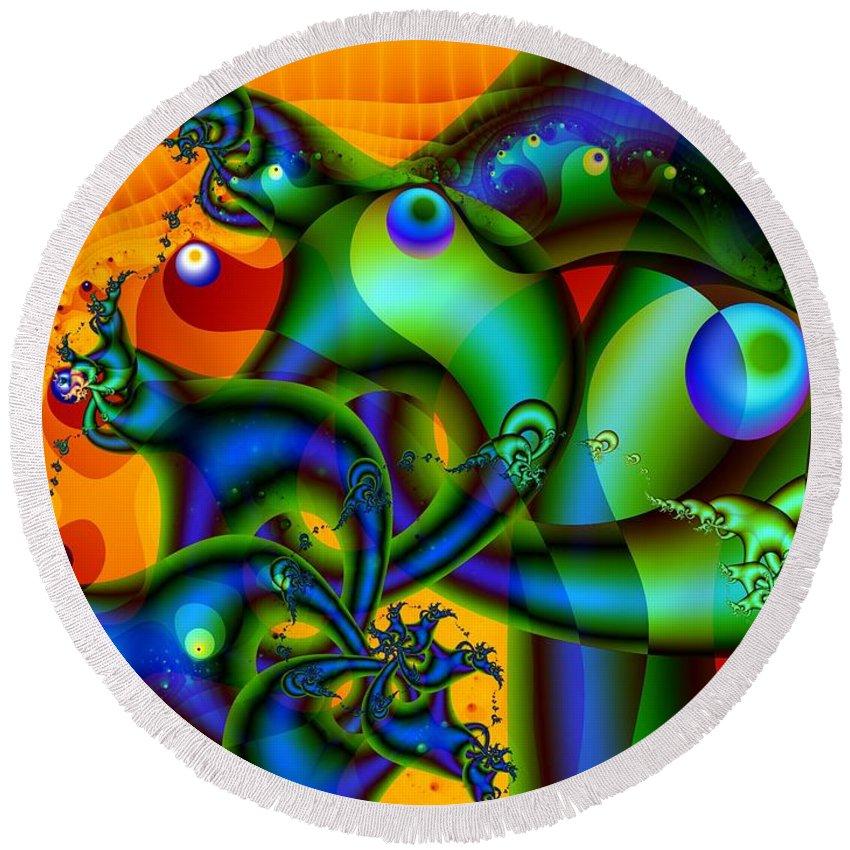 Slugs Round Beach Towel featuring the digital art Sluggish by Ron Bissett