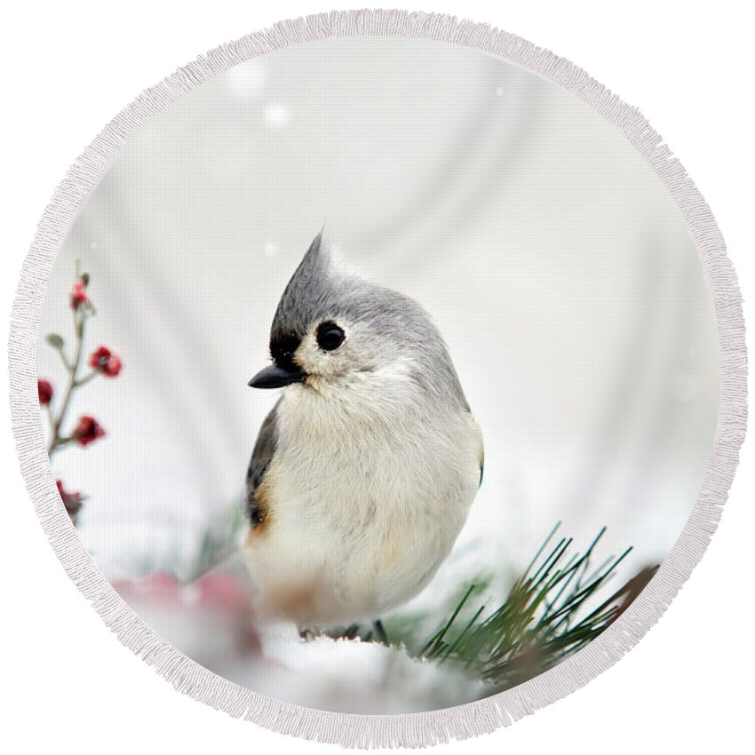 Titmouse Round Beach Towels
