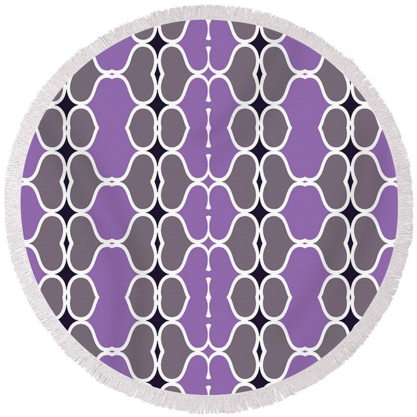 Purple Round Beach Towel featuring the digital art Sofala by Ceil Diskin