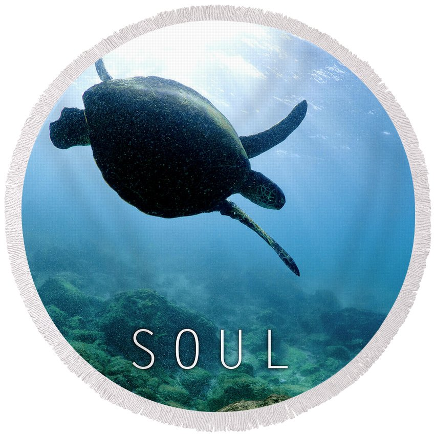 Under Water Round Beach Towel featuring the photograph Soul. by Sean Davey