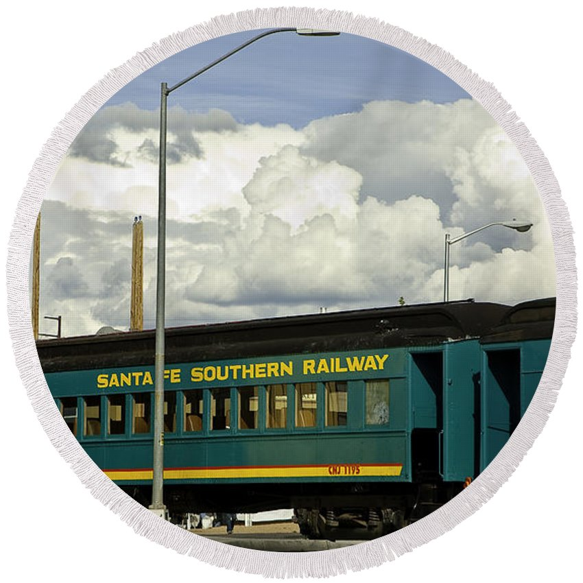 Rail Round Beach Towel featuring the photograph Southern Railway by Madeline Ellis