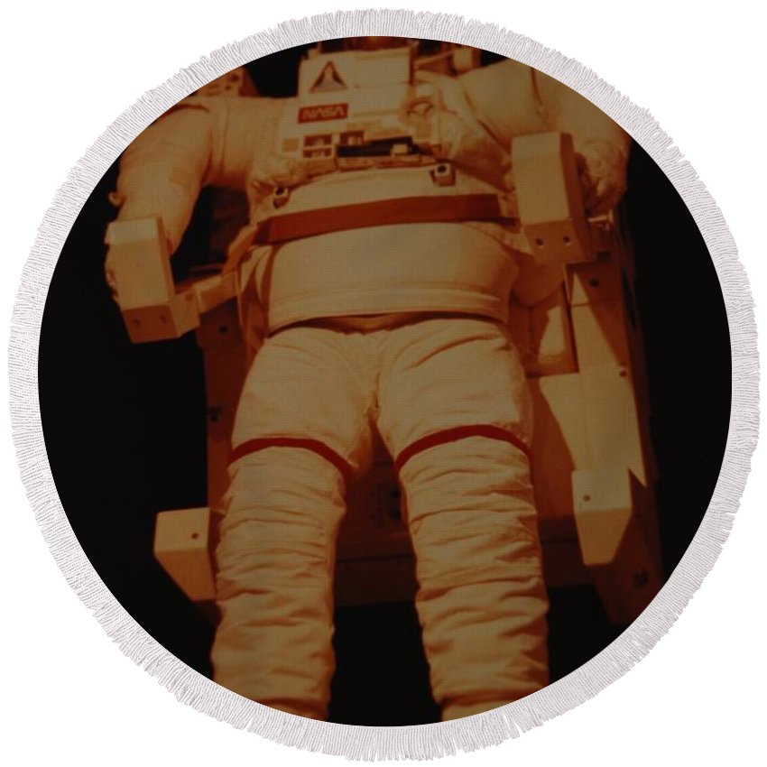 Nasa Round Beach Towel featuring the photograph Space Suit by Rob Hans