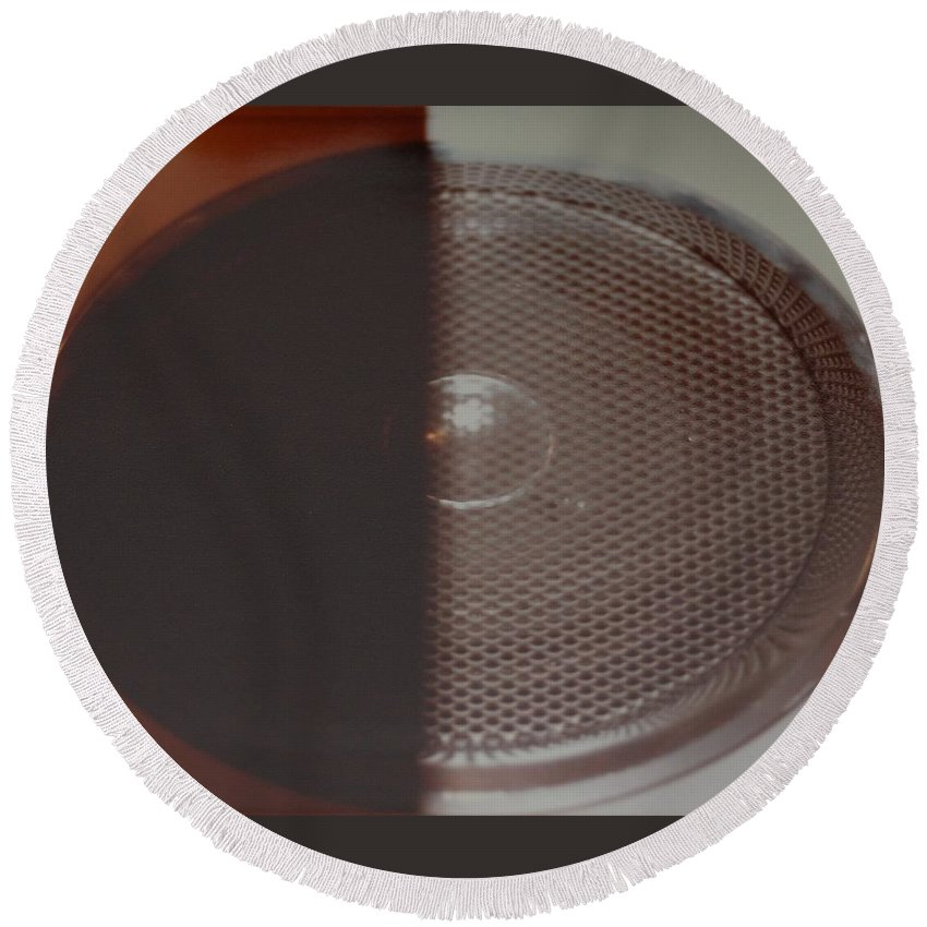 Abstract Round Beach Towel featuring the photograph Speaker by Rob Hans
