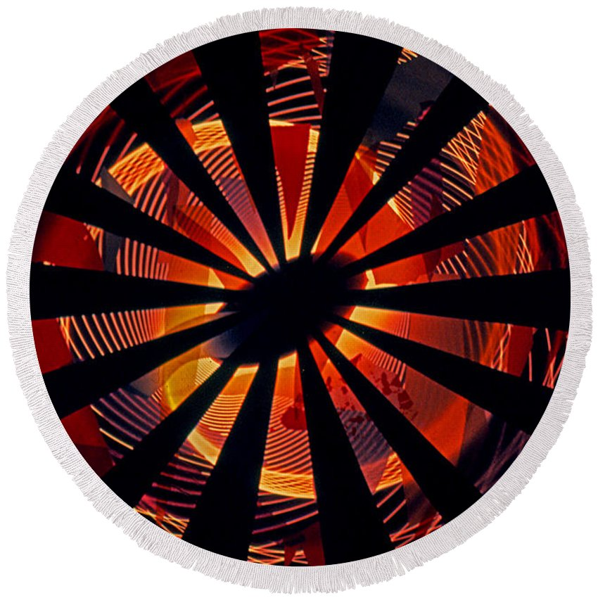 Abstracts Round Beach Towel featuring the photograph Spiral To Infinity by Rich Walter