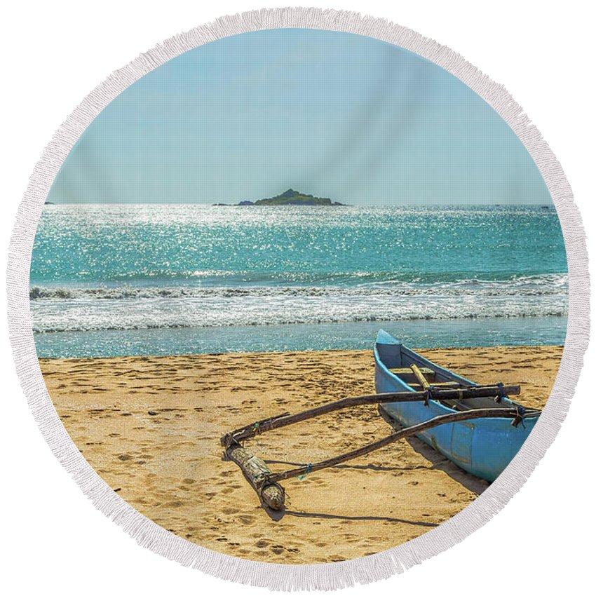 Asian Round Beach Towel featuring the photograph Sri Lanka. Nilaveli by Vladimir Sergeev