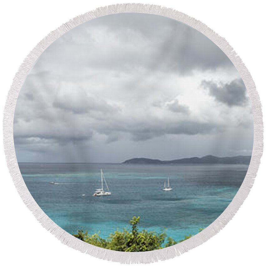 Trunk Bay Round Beach Towel featuring the photograph St John - What's Not To Love by Belinda Greb