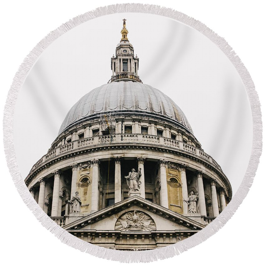 St Pauls Round Beach Towel featuring the photograph St Paul Cathedral Dome by Pati Photography