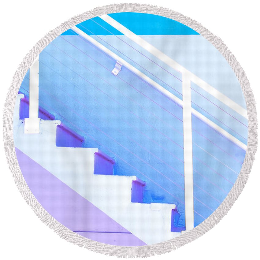 Outdoor Round Beach Towel featuring the photograph Stairway by Juli Scalzi