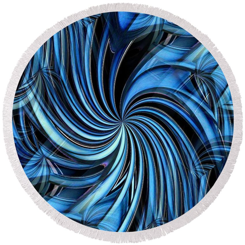 Seattle Round Beach Towel featuring the photograph Steel Whirlpool by Tim Allen