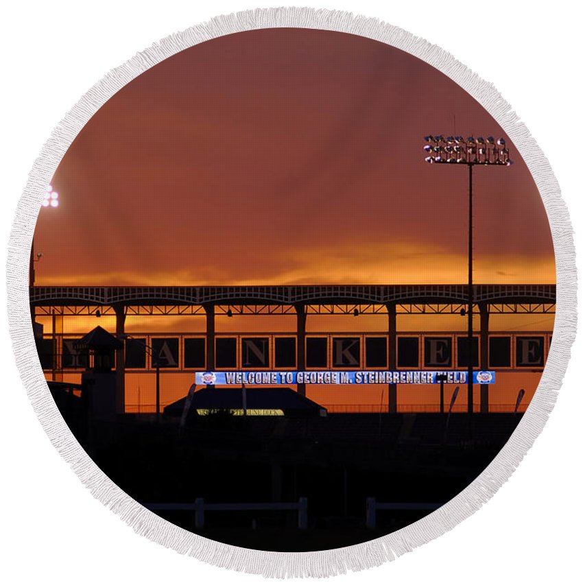 Steinbrenner Field Round Beach Towel featuring the photograph Steinbrenner Field by David Lee Thompson