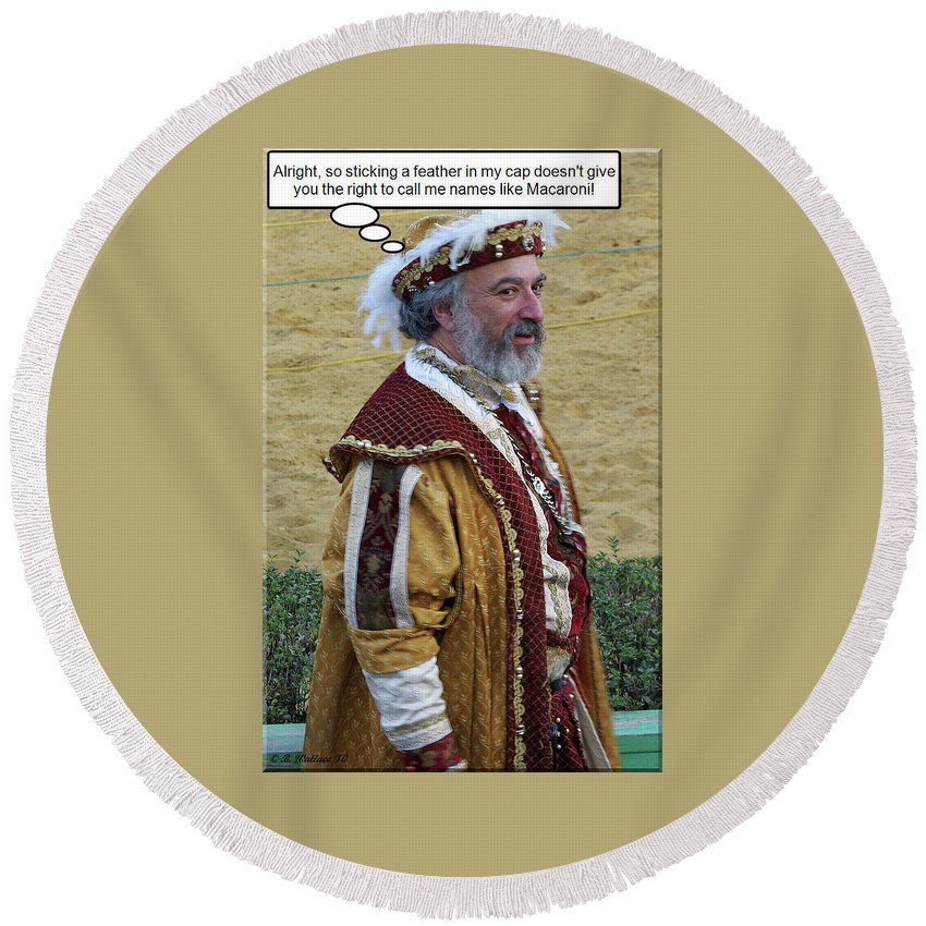 2d Round Beach Towel featuring the photograph Sticks And Stones by Brian Wallace