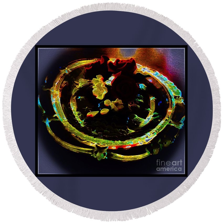 Still Round Beach Towel featuring the photograph Still Life Abstract by Debra Lynch