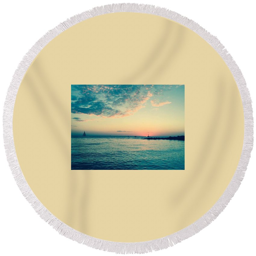 Water Round Beach Towel featuring the photograph Still Water by Jeffrey Hite