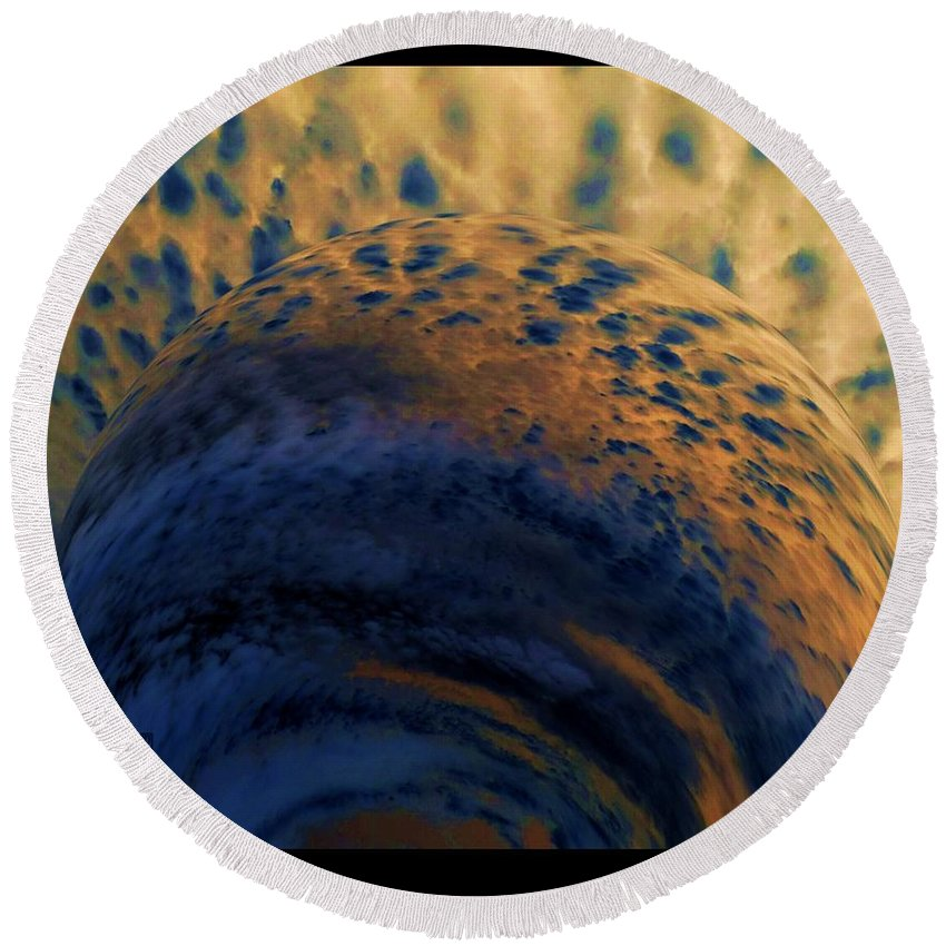 Colorful Round Beach Towel featuring the photograph Storm Brewing by Dale Crum