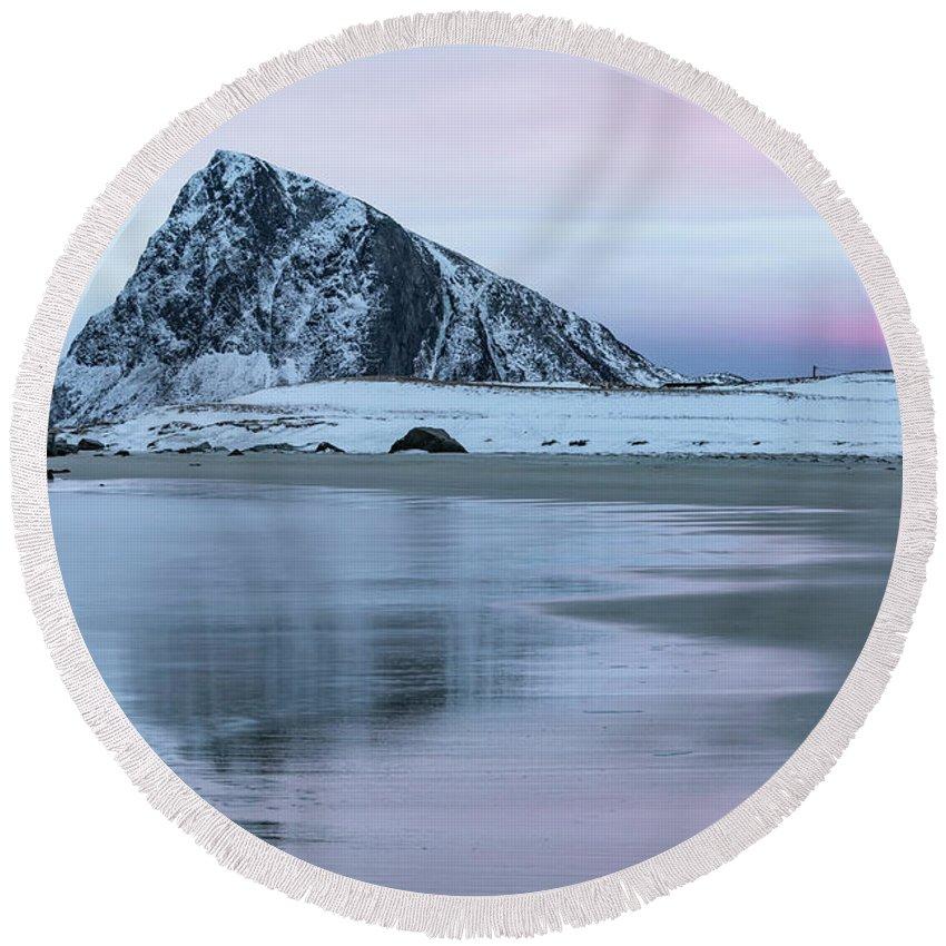 Storsandnes Round Beach Towel featuring the photograph Storsandnes, Lofoten - Norway by Joana Kruse