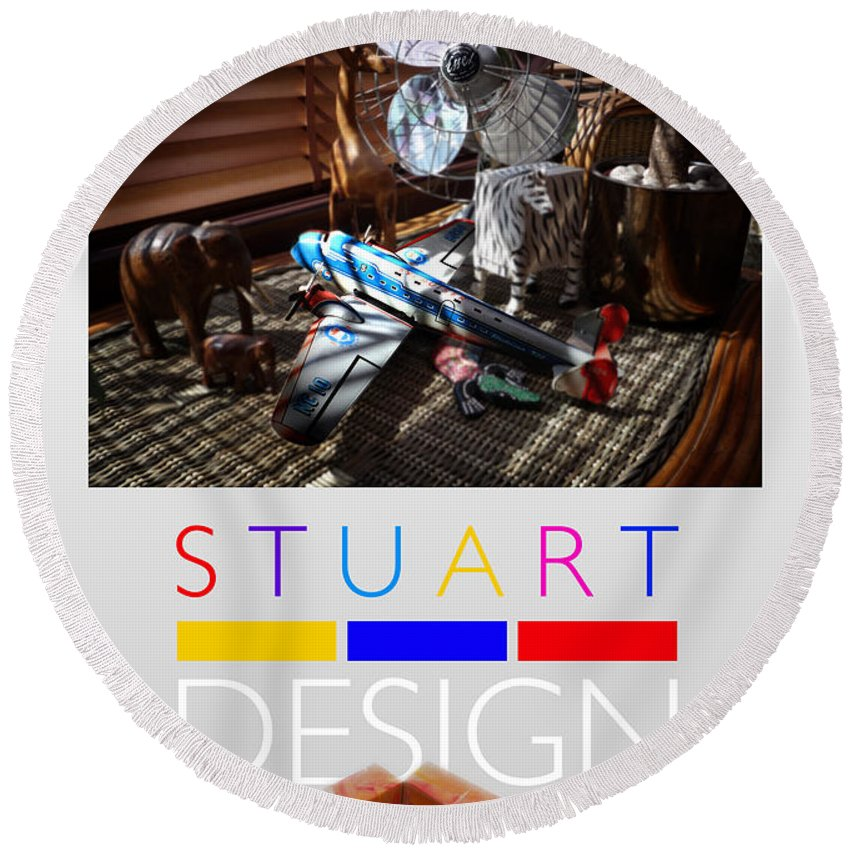 De Stijl Round Beach Towel featuring the photograph Suburban Safari Poster by Charles Stuart