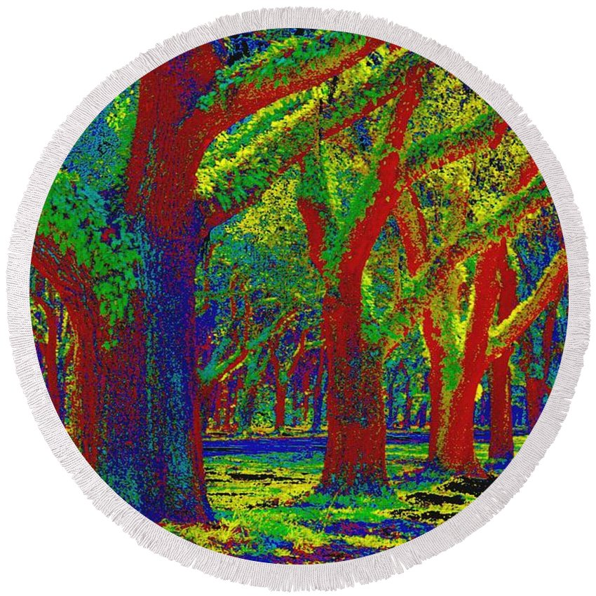 Impressionism Round Beach Towel featuring the photograph Summer Dreams by Carol Groenen