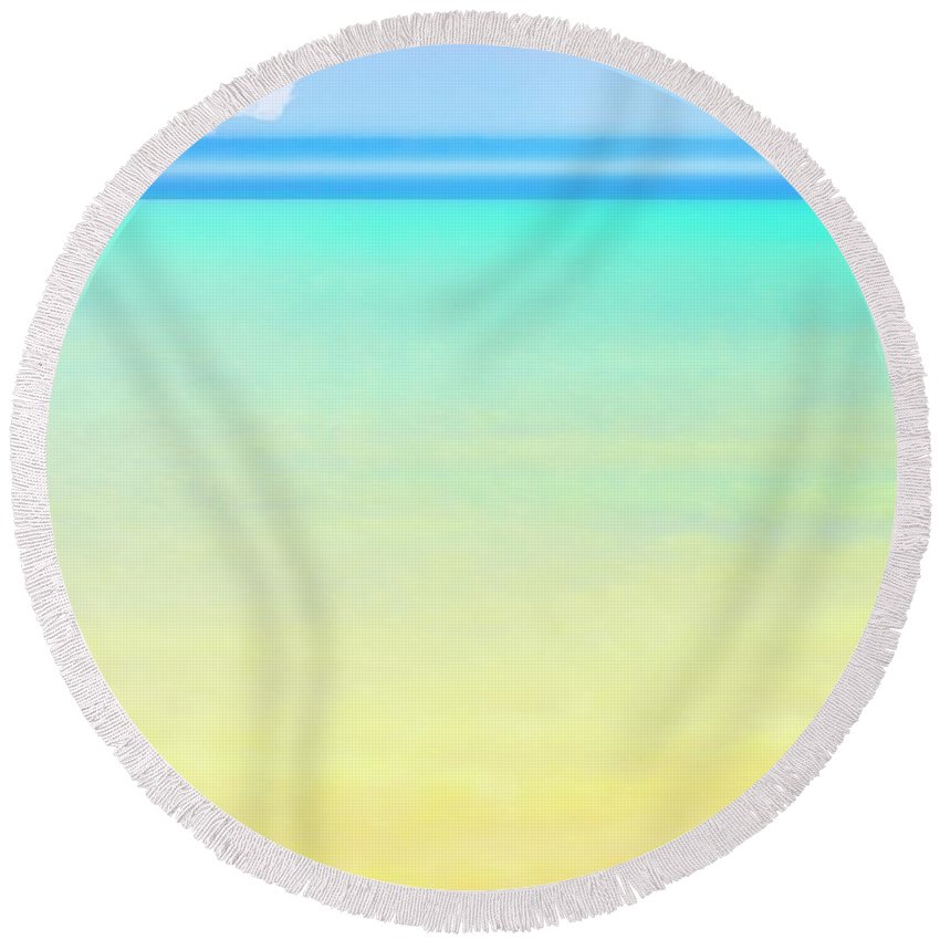 Summertime Round Beach Towel featuring the photograph Summertime by Marysue Ryan