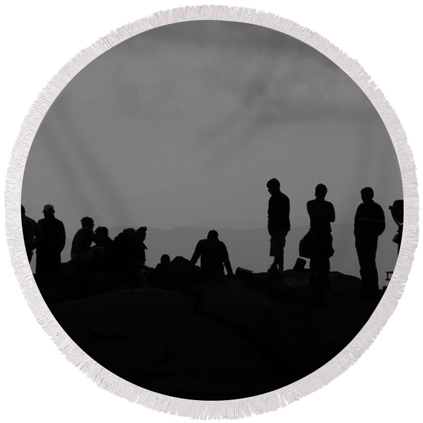 Summit Round Beach Towel featuring the photograph Summit People by David Lee Thompson