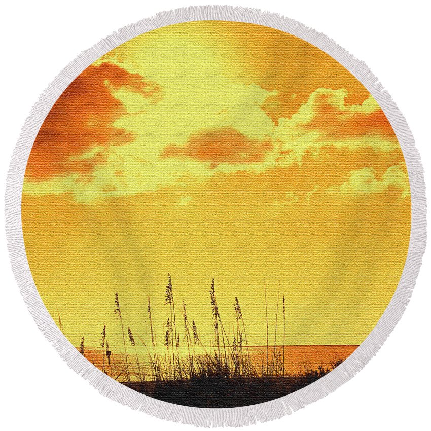 Sun Round Beach Towel featuring the photograph Sun by Ian MacDonald