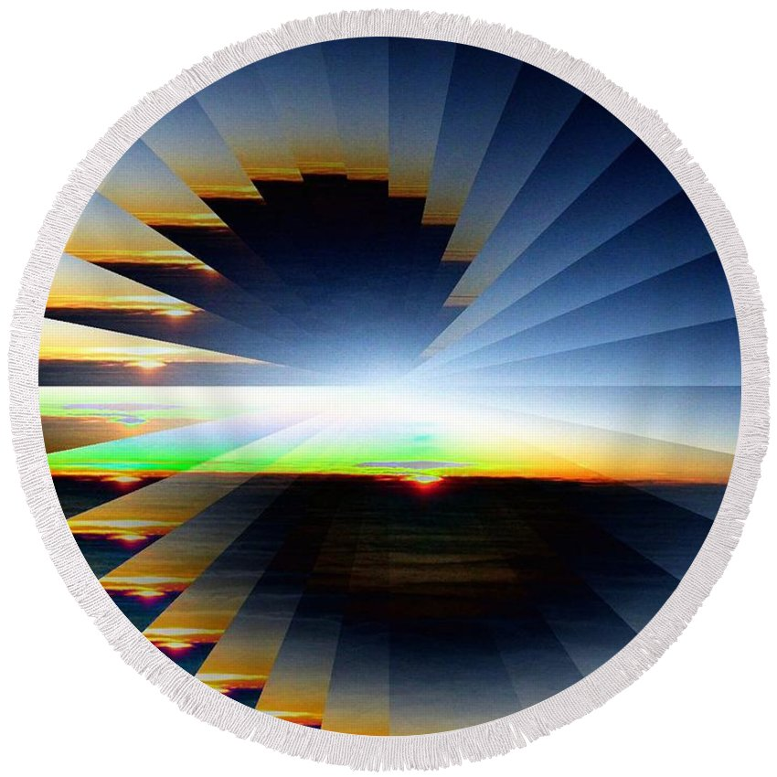 Sunrise Round Beach Towel featuring the photograph Sunrise At 30k 6 by Tim Allen