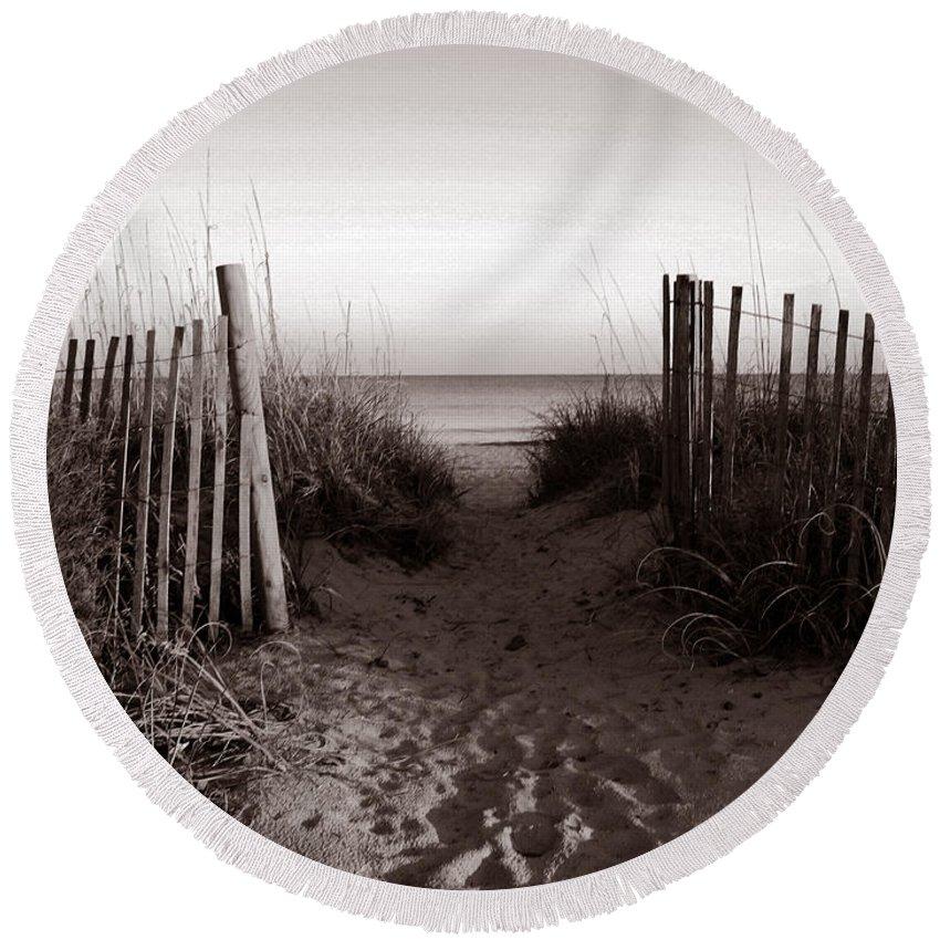 Beach Round Beach Towel featuring the photograph Sunrise At Myrtle Beach Sc by Susanne Van Hulst