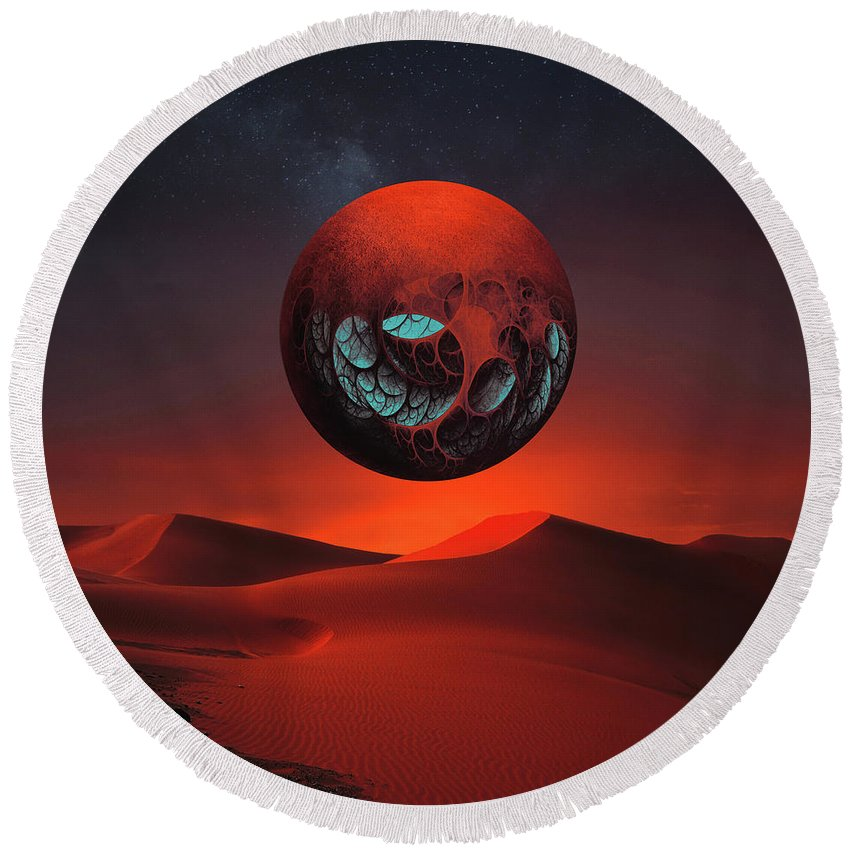 Landscape Round Beach Towel featuring the photograph Sunrise In The Third System by Michal Karcz