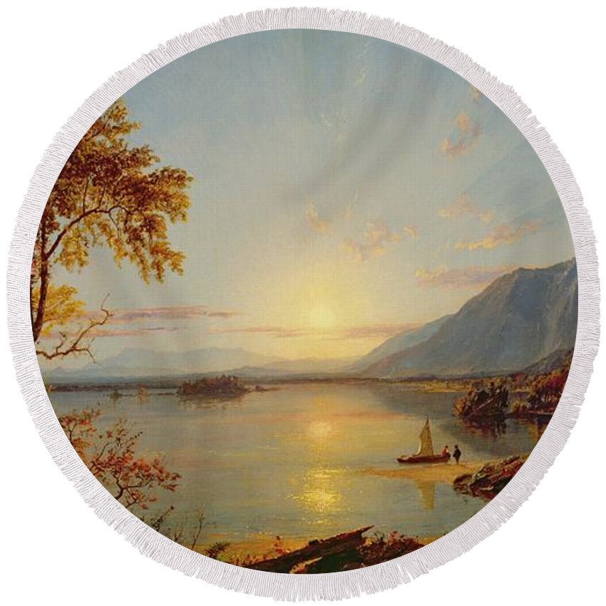 Cropsey Paintings Round Beach Towels