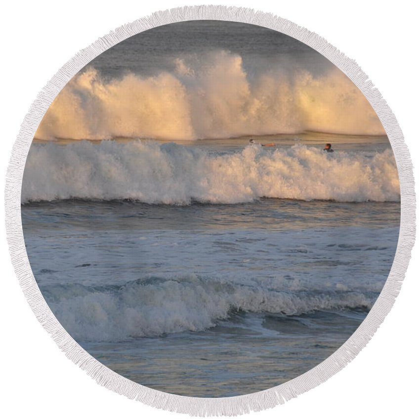 Gold Coast Round Beach Towel featuring the photograph Sunset Layers by Csilla Florida