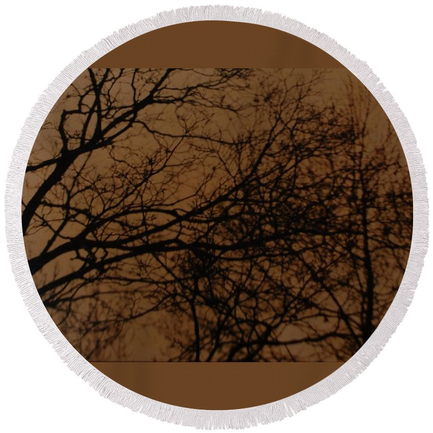 Landscape Round Beach Towel featuring the photograph Sunset Winter by Rob Hans