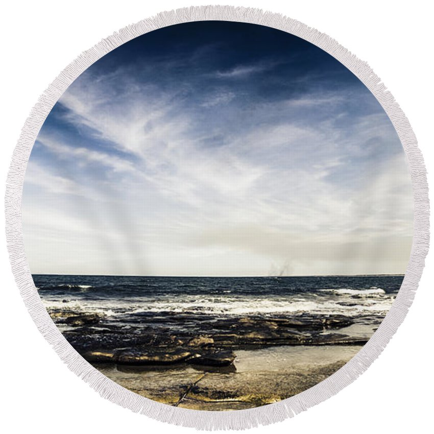 Landscape Round Beach Towel featuring the photograph Sunshine Coast Landscape by Jorgo Photography - Wall Art Gallery