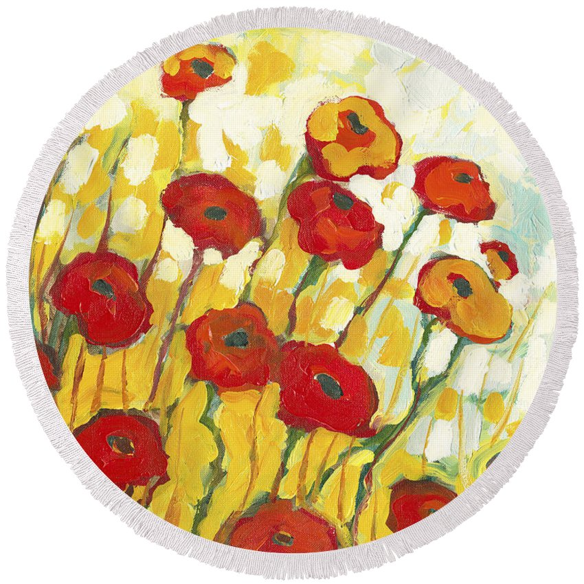 Impressionist Round Beach Towels