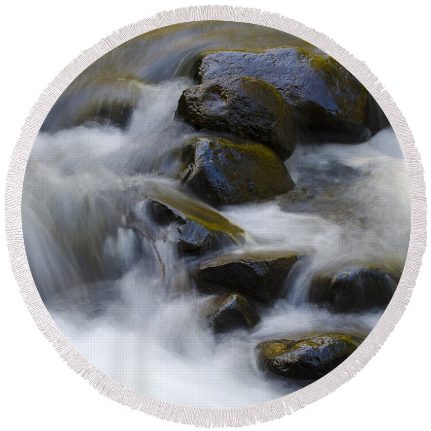 Sweet Creek Round Beach Towel featuring the photograph Sweet Creek Oregon 14 by Bob Christopher