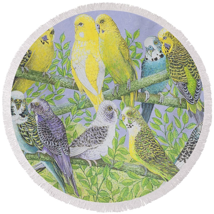 Canary Round Beach Towels