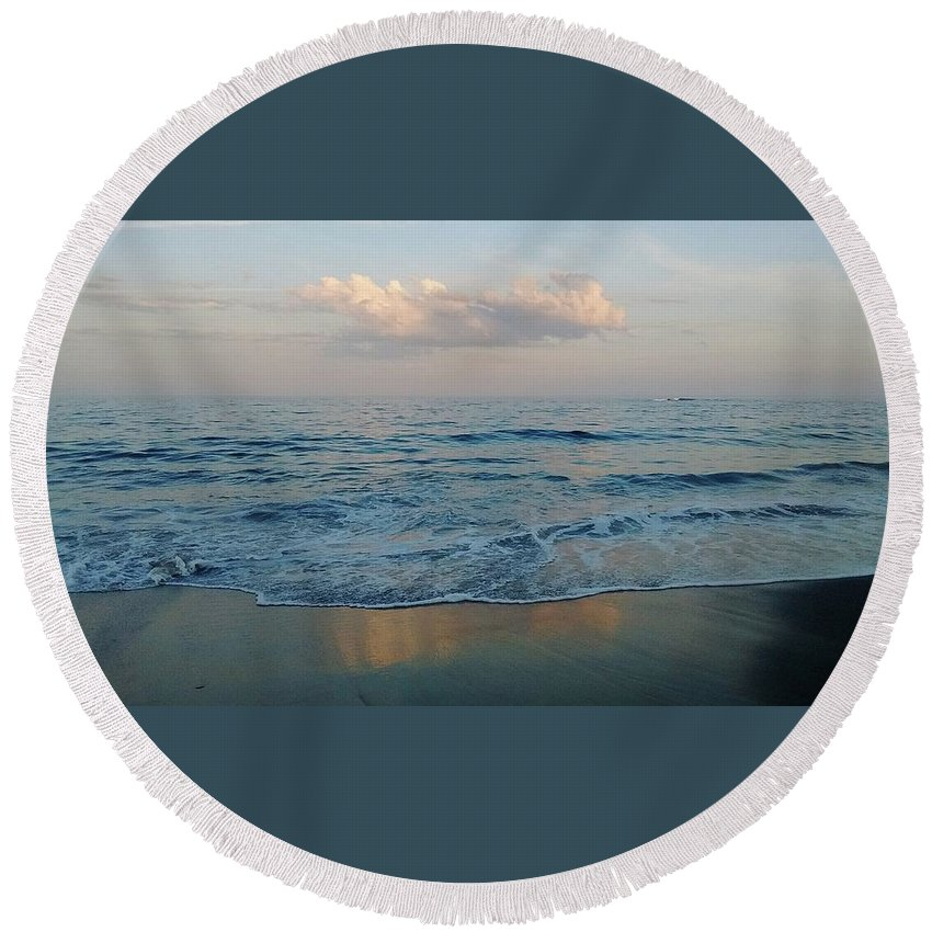 Beach Round Beach Towel featuring the photograph Sweet Tide by Hope O'Shaughnessy