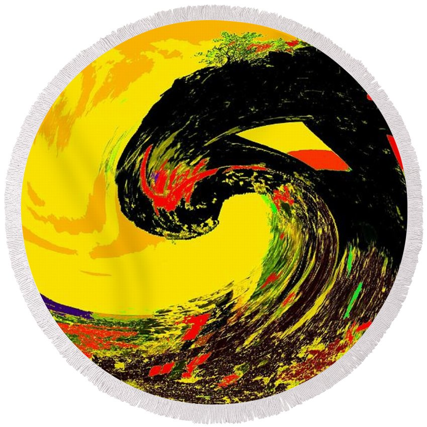 Abstract Round Beach Towel featuring the photograph Swept Away by Ian MacDonald