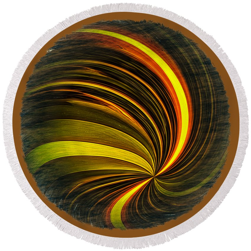 Abstract Round Beach Towel featuring the photograph Swirls And Curls by John M Bailey