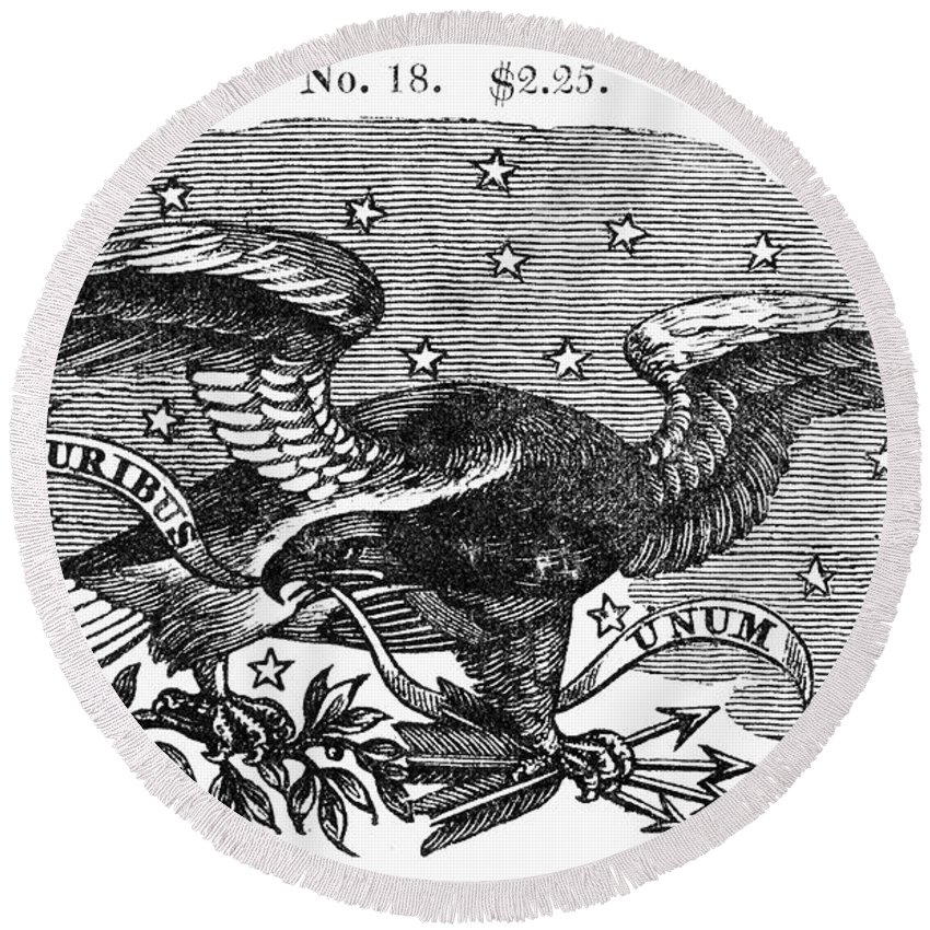 19th Century Round Beach Towel featuring the photograph Symbols: Eagle by Granger